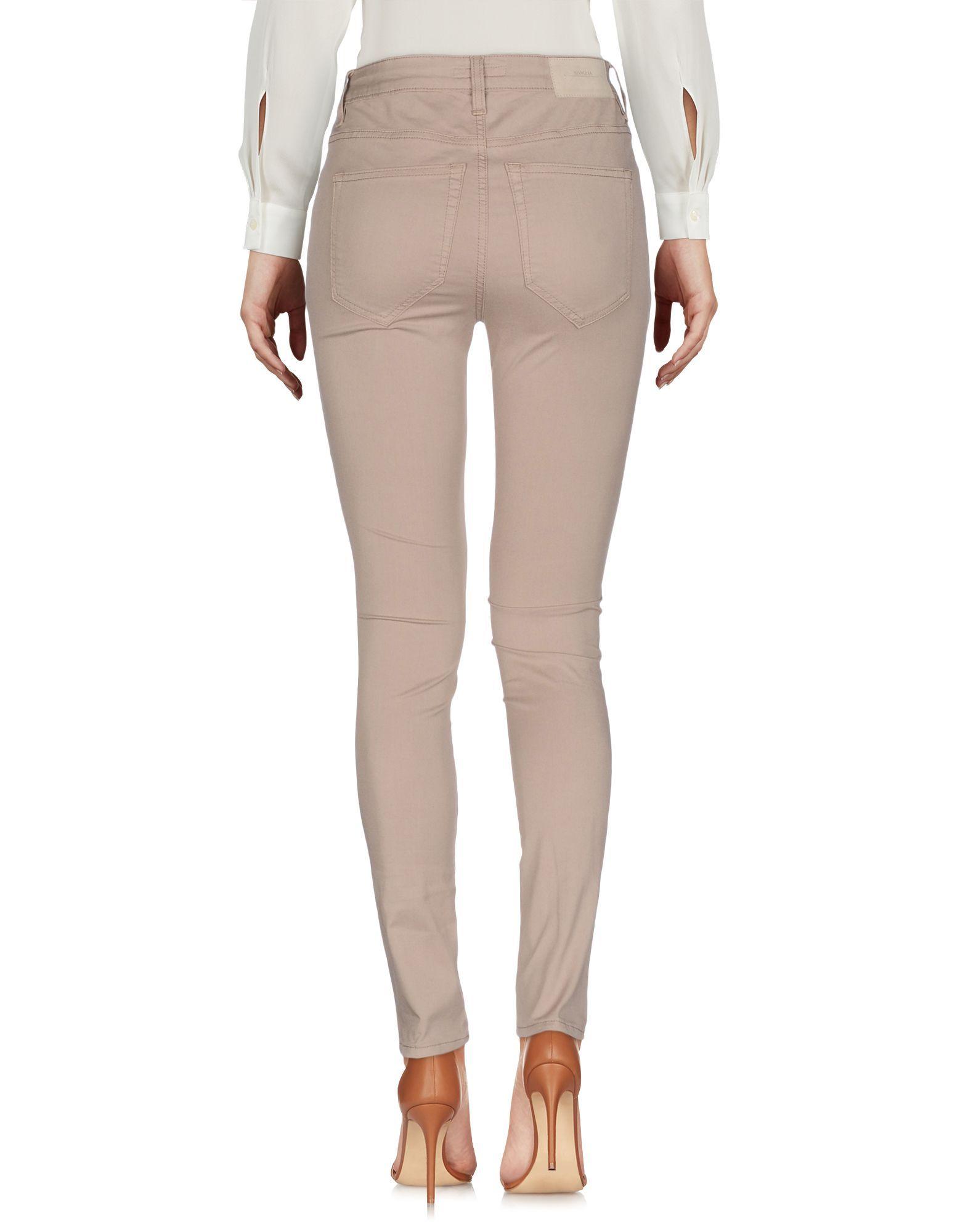 Siviglia Sand Cotton Tapered Leg Trousers