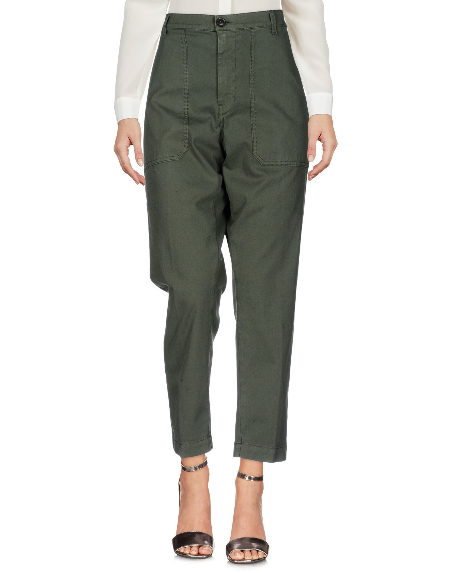 True Nyc� Military Green Cotton Trousers