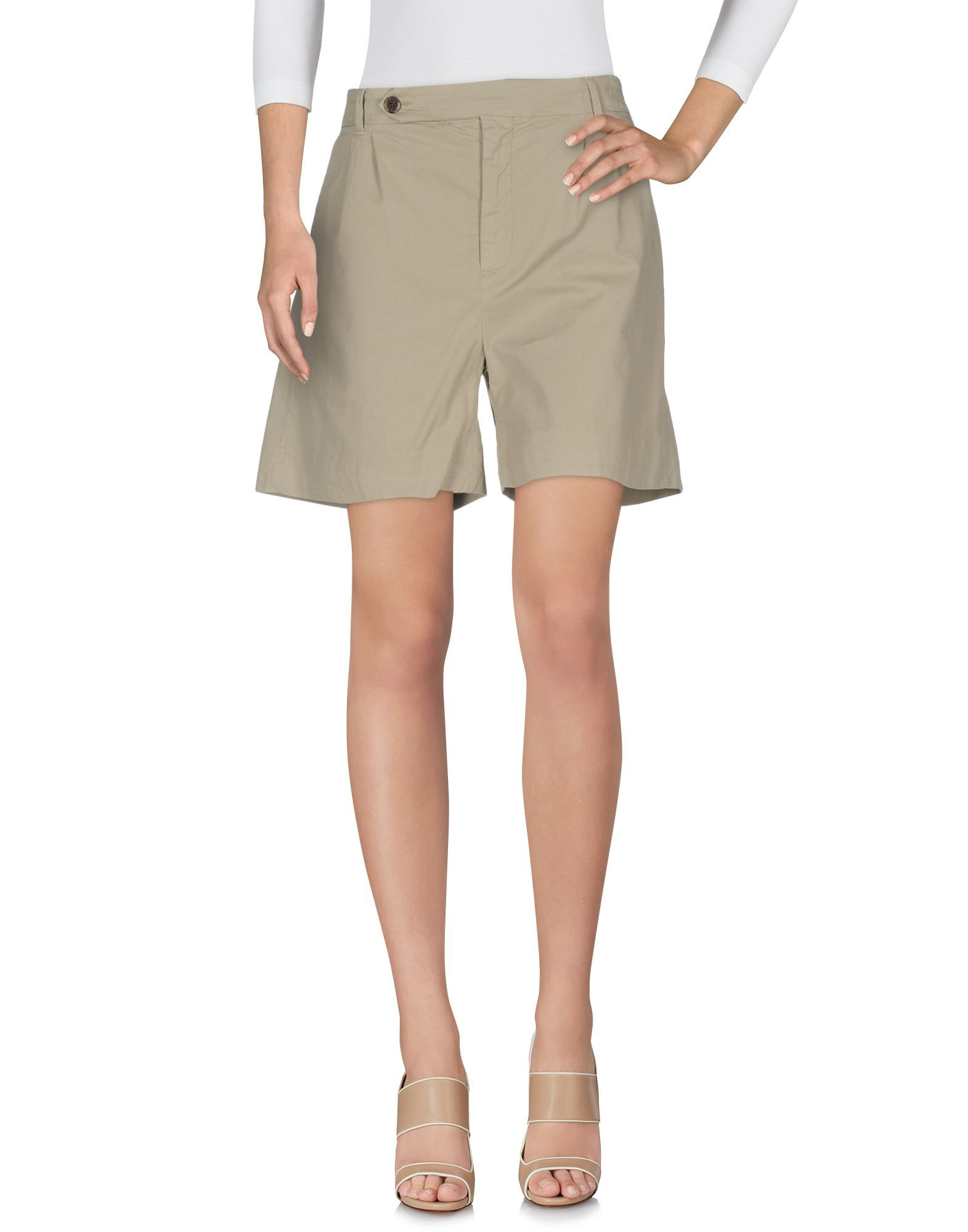 True Nyc� Sand Cotton Shorts
