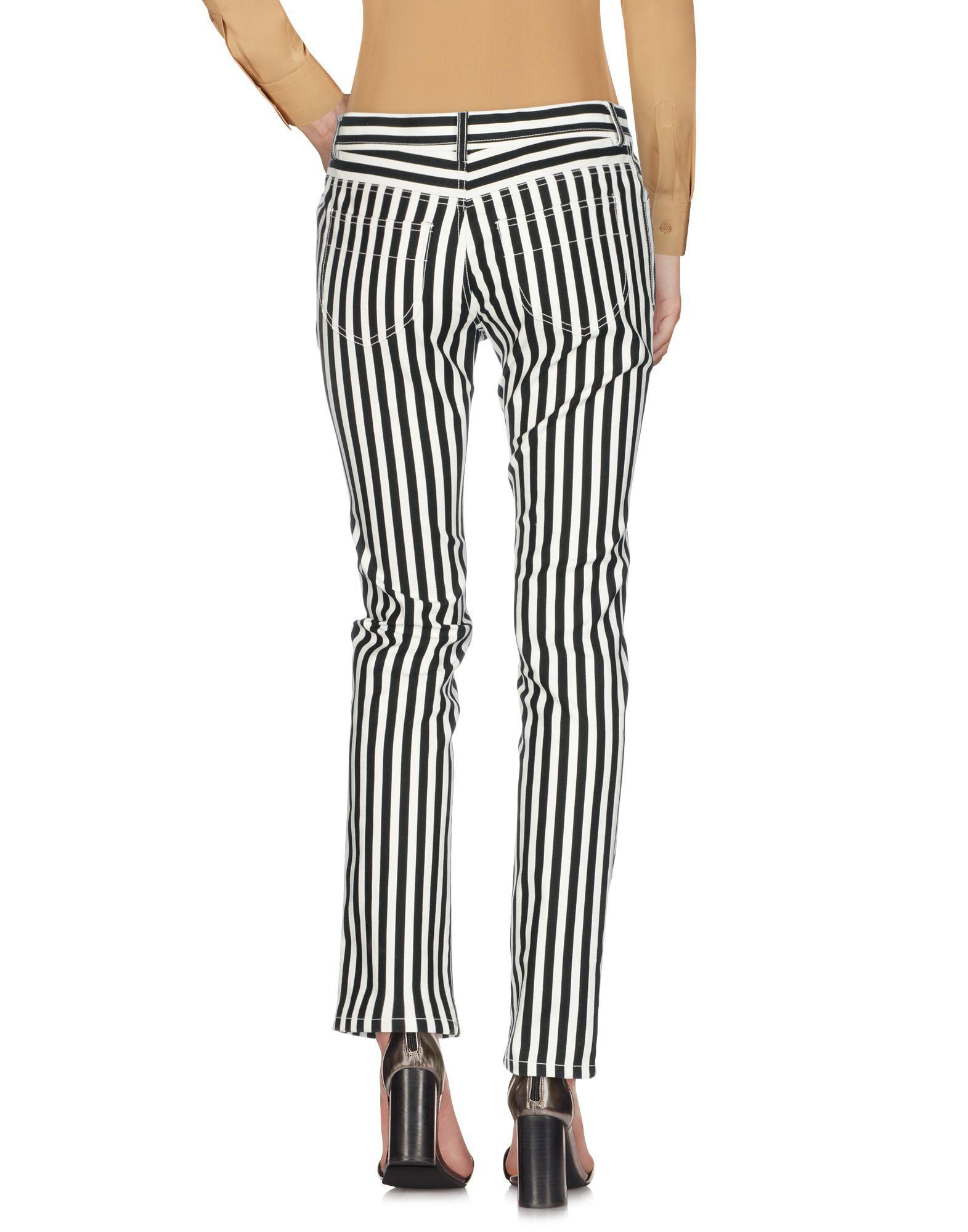 Philosophy Di Lorenzo Serafini White Stripe Cotton Trousers