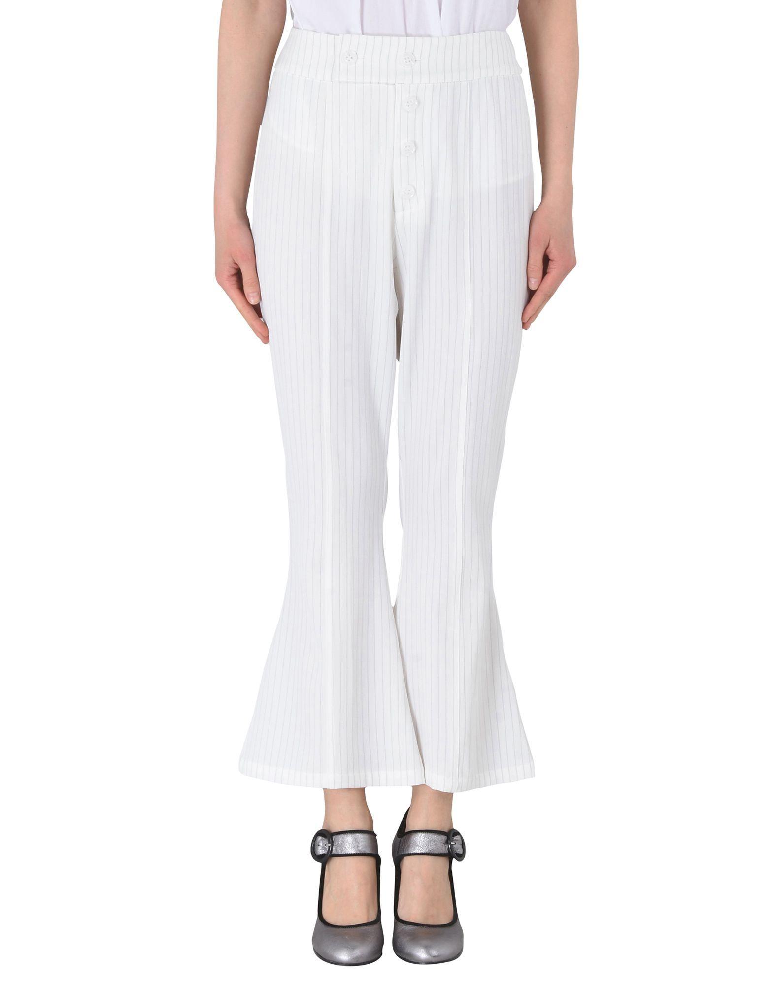 Jovonna White Polyester Pantaloni