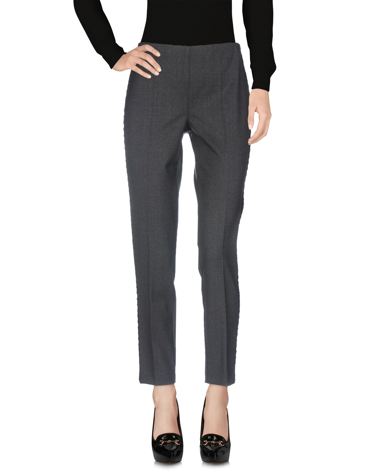 P.A.R.O.S.H. Grey Virgin Wool Tapered Leg Trousers
