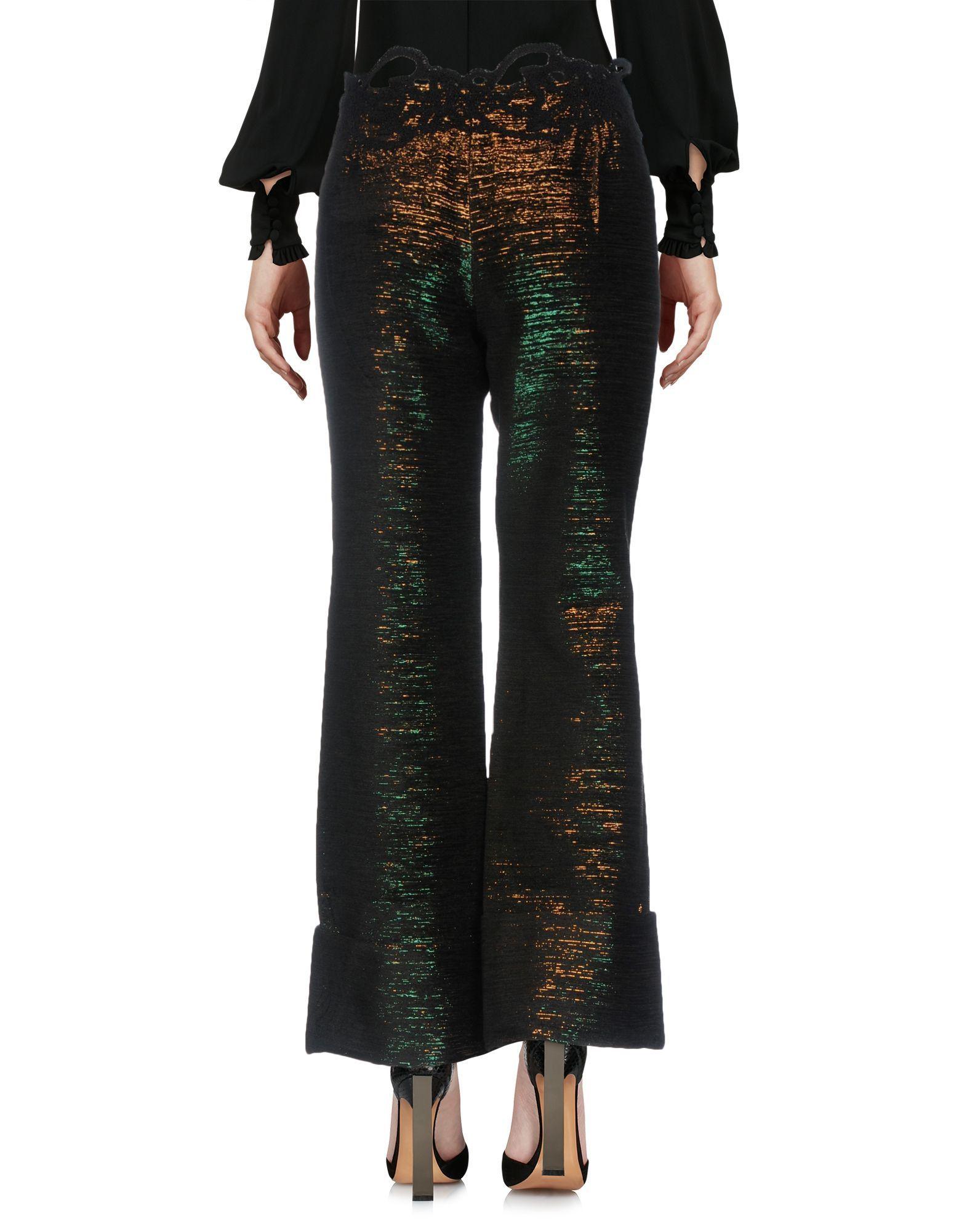 Anais Jourden Dark Blue Wide Leg Cropped Trousers