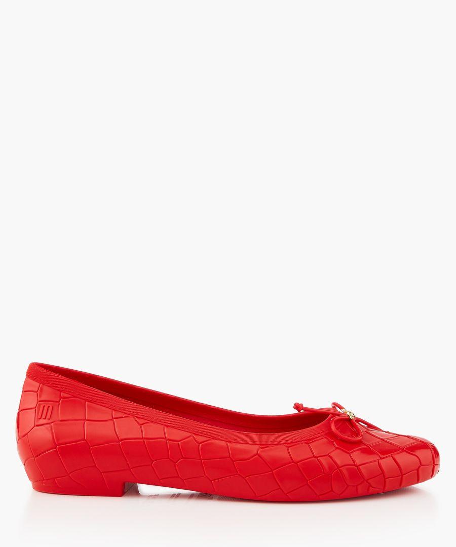 Red ballet flats