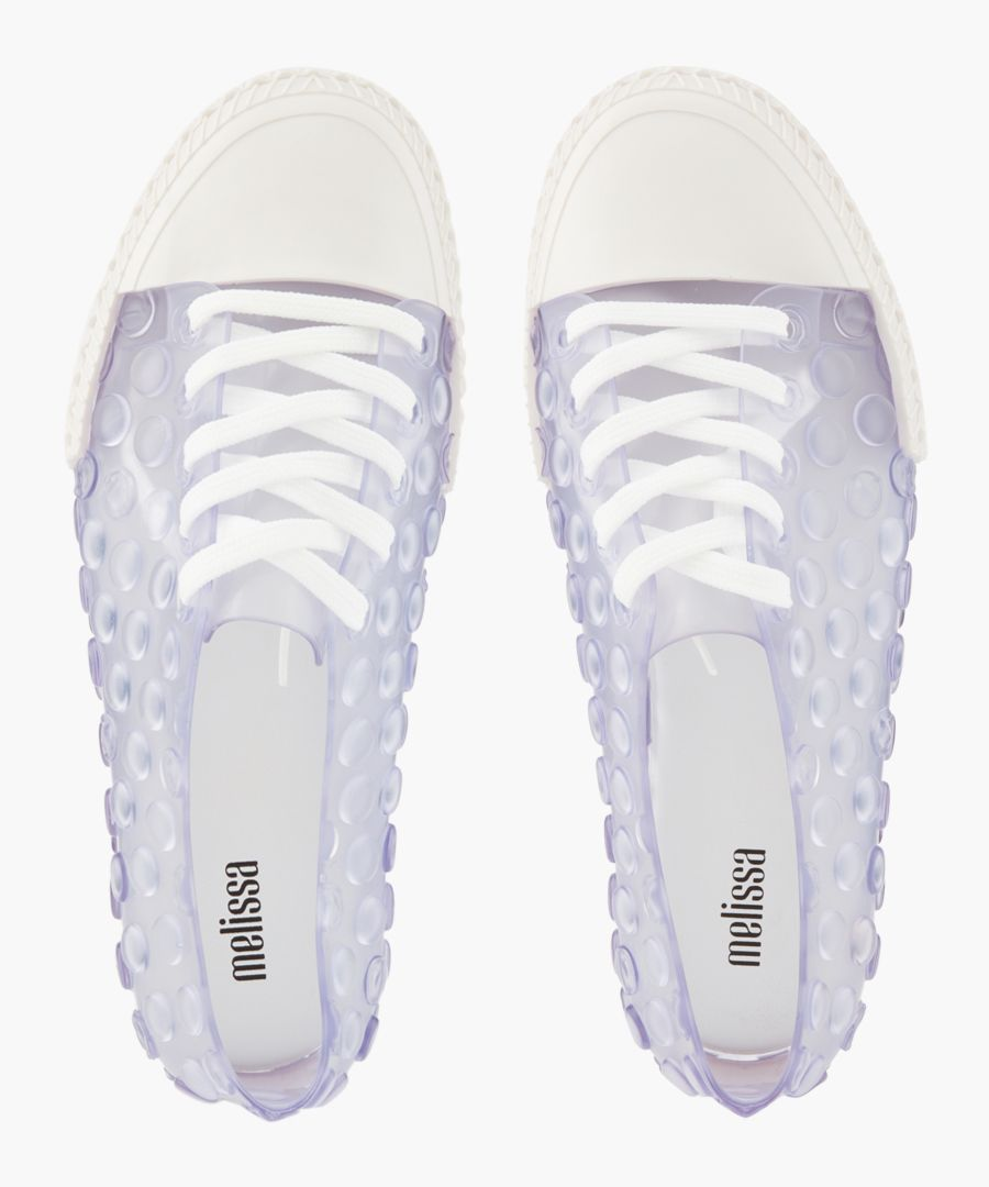 White transparent trainers