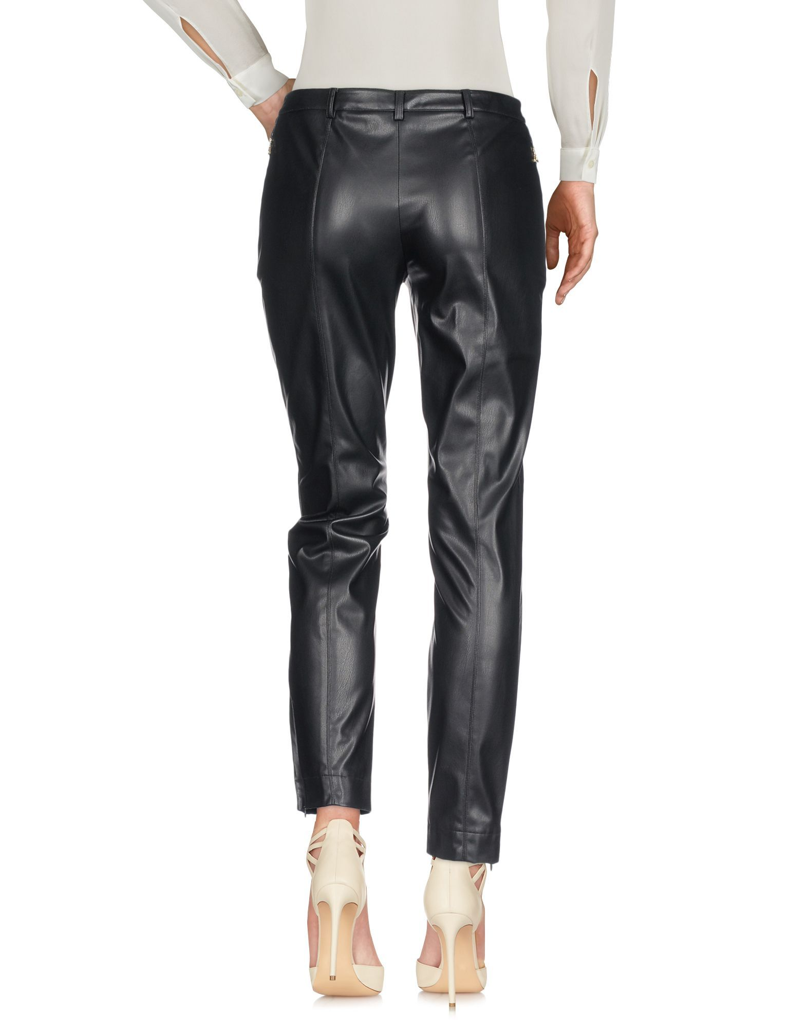Patrizia Pepe Black Faux Leather Trousers