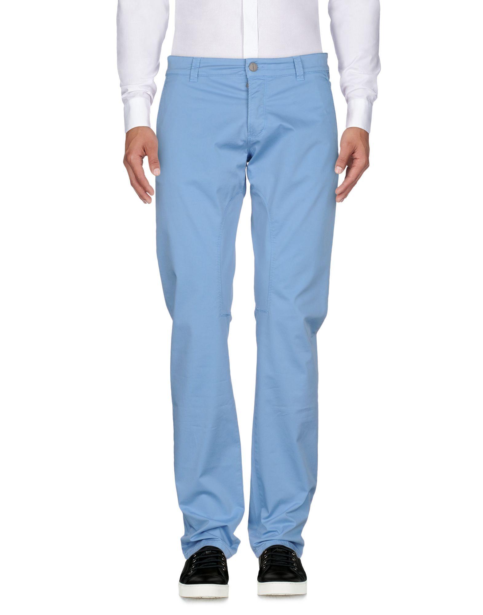 Siviglia Sky Blue Cotton Trousers