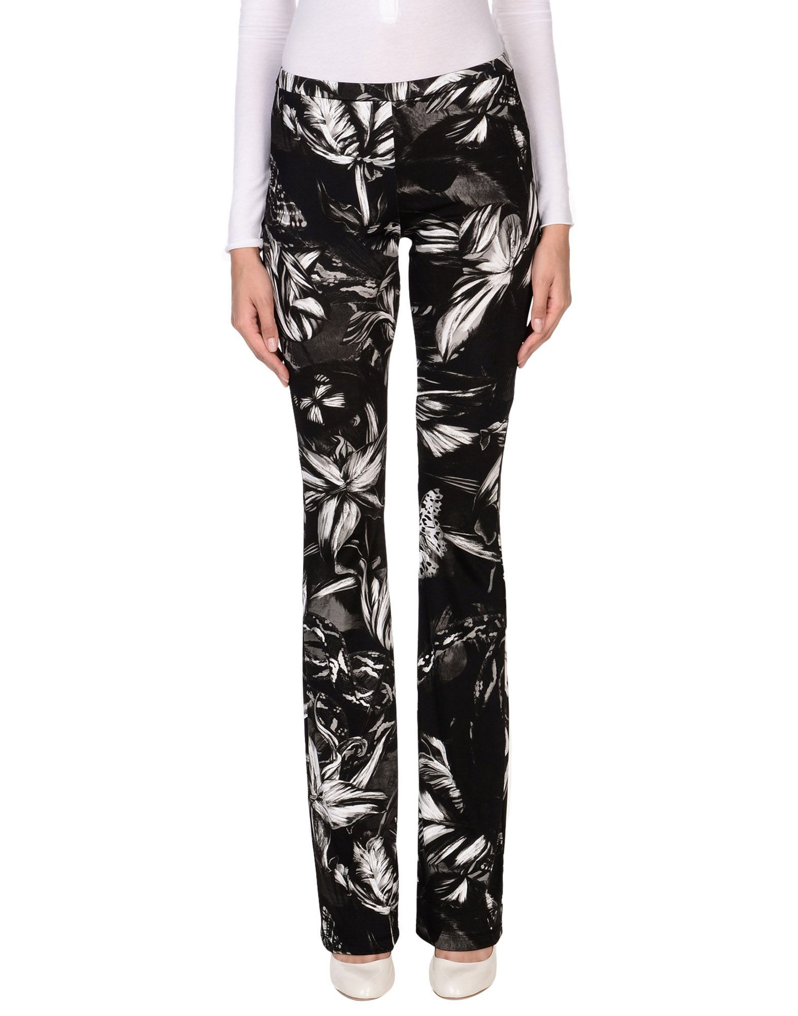 Just Cavalli Black Print Trousers