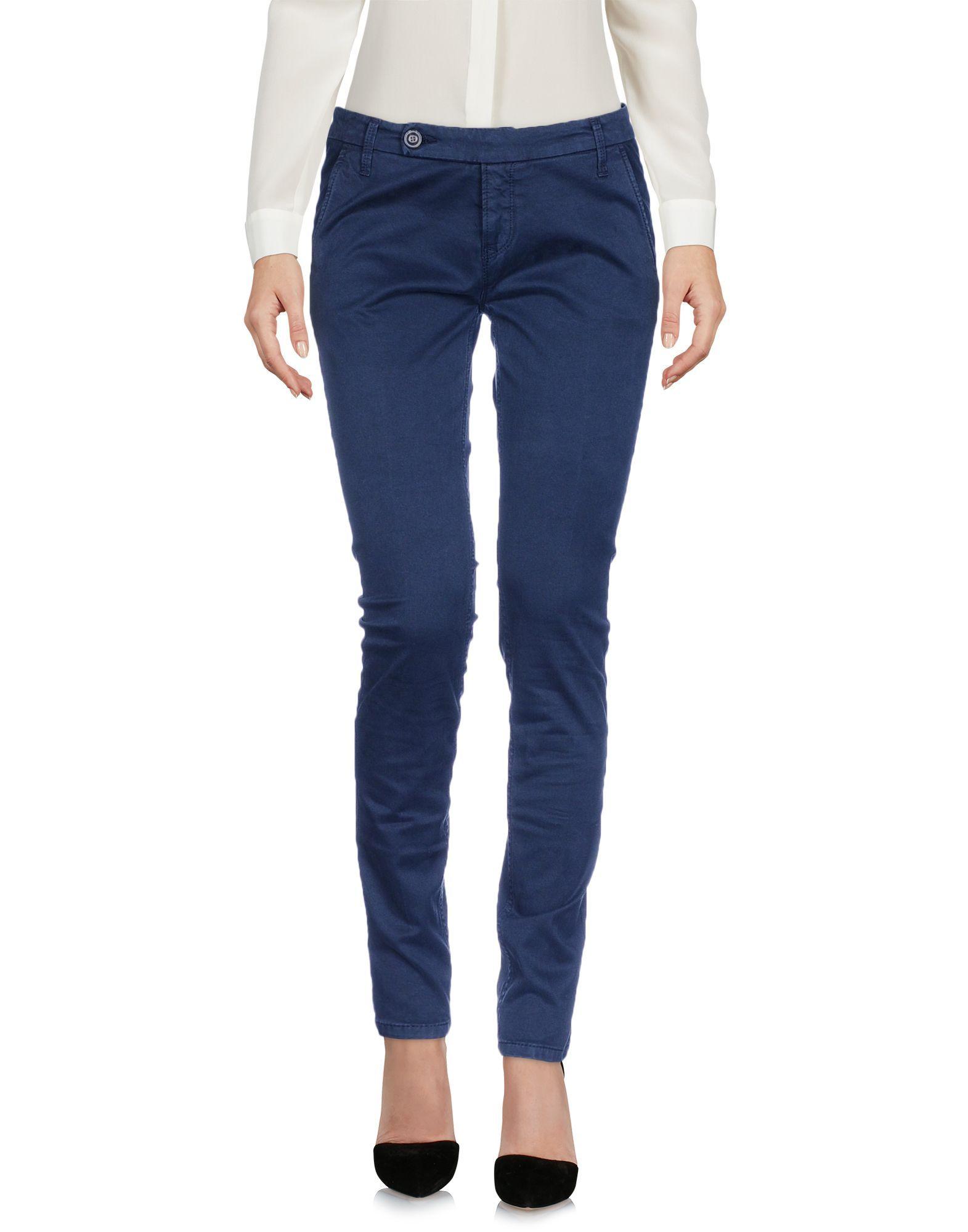 True Nyc� Dark Blue Cotton Tapered Leg Trousers