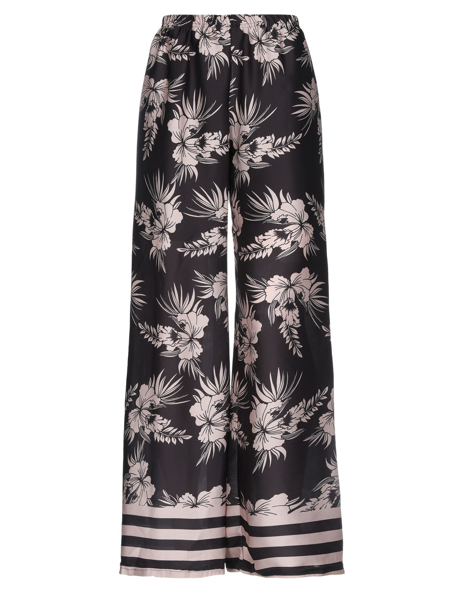 Giorgia  & Johns Black Print Wide Leg Trousers