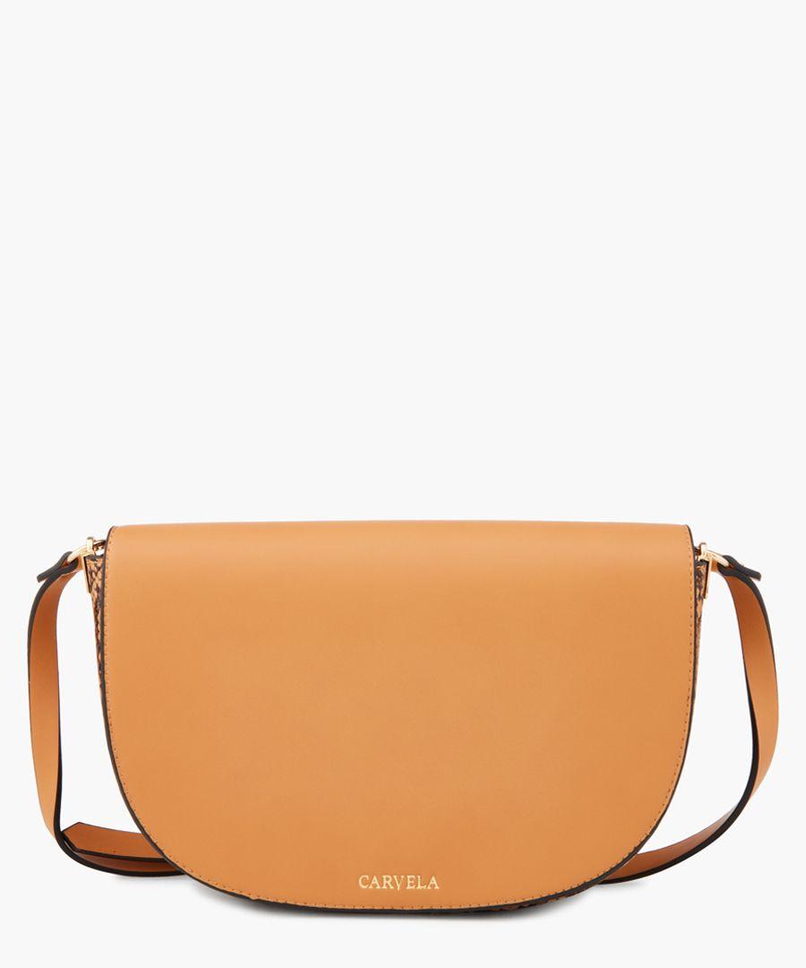 Echo faux leather tan bag
