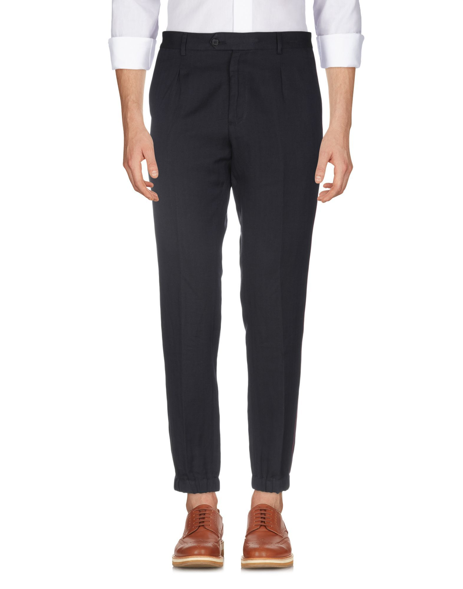 Roberto Cavalli Dark Blue Cotton Trousers