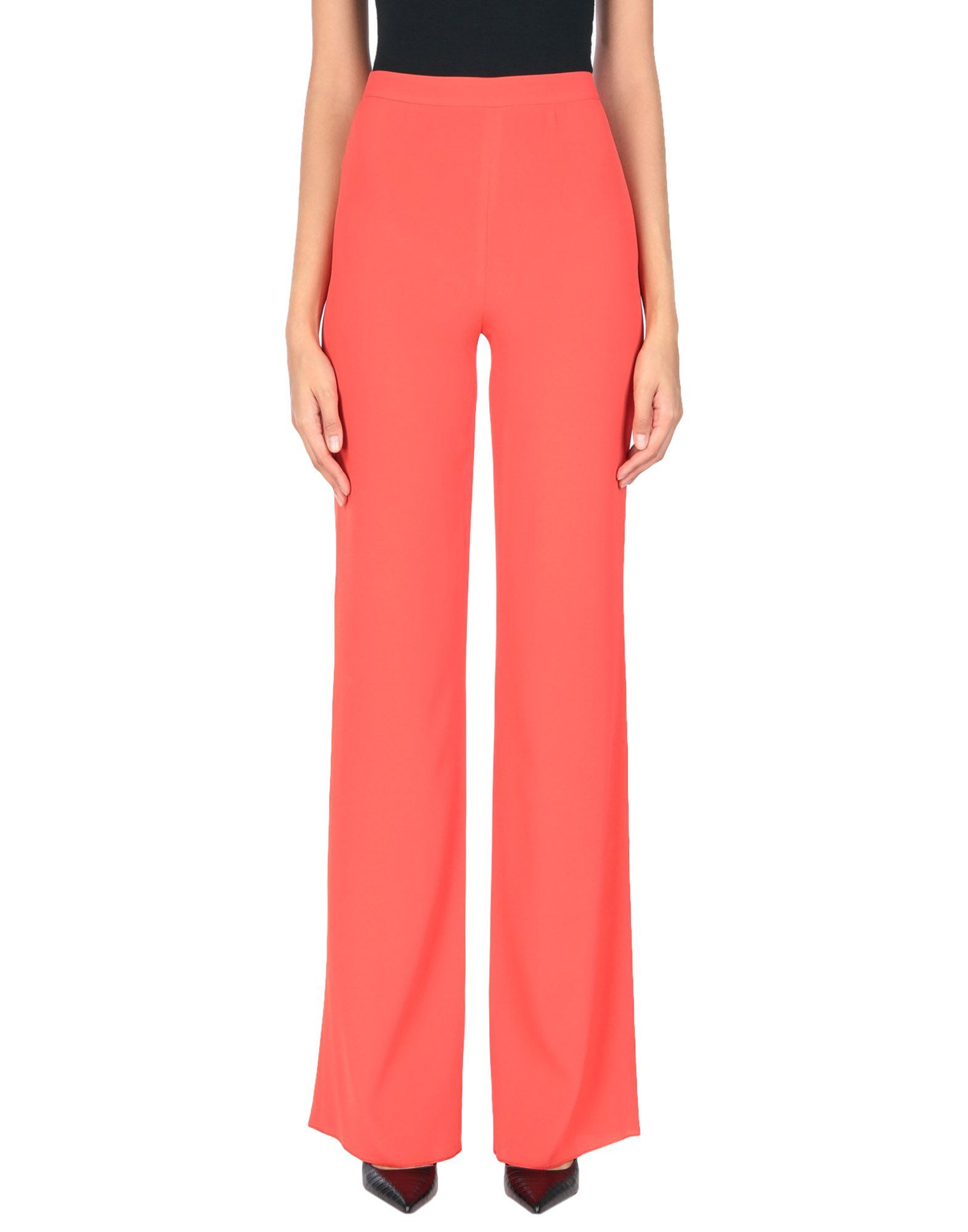 Emilio Pucci Red Crepe Tailored Trousers