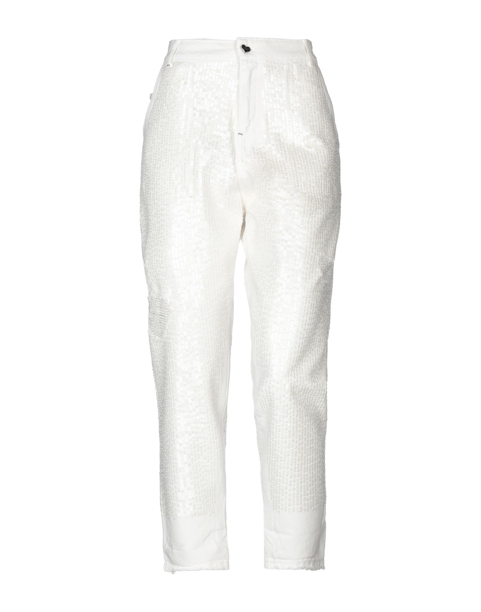 Twinset Ivory Cotton Jeans
