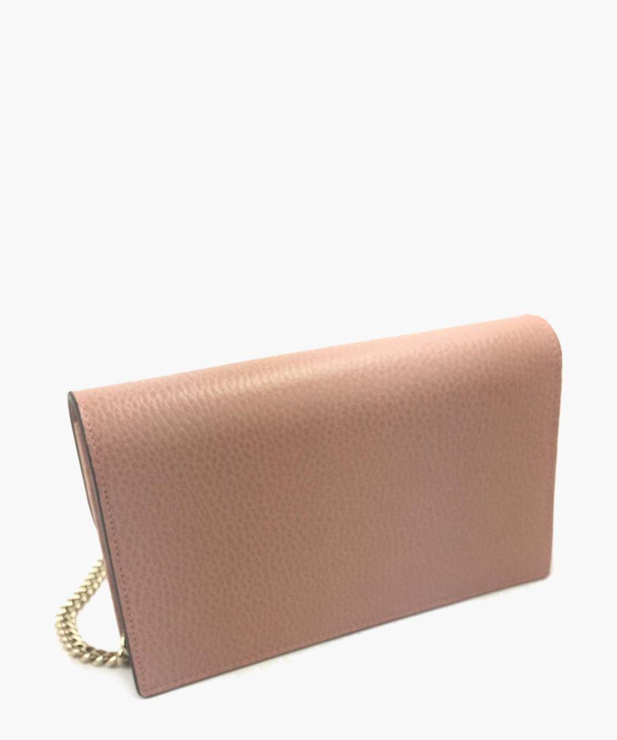 Dusty pink leather crossbody