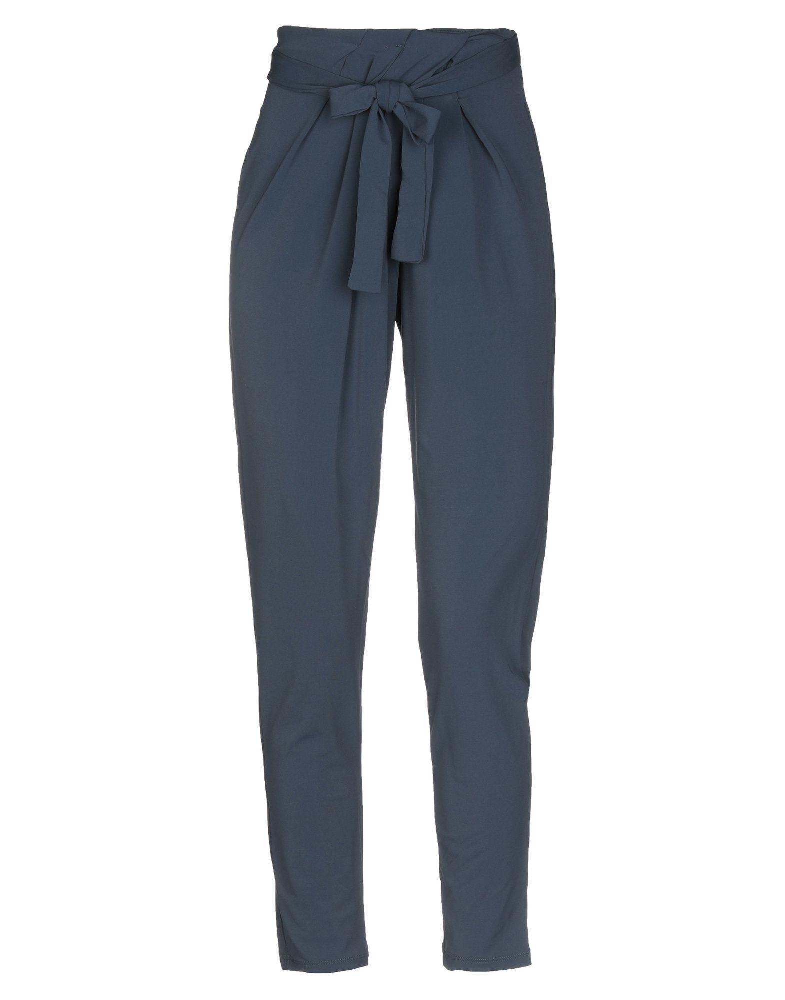 Kaos Slate Blue Crepe Tapered Trousers
