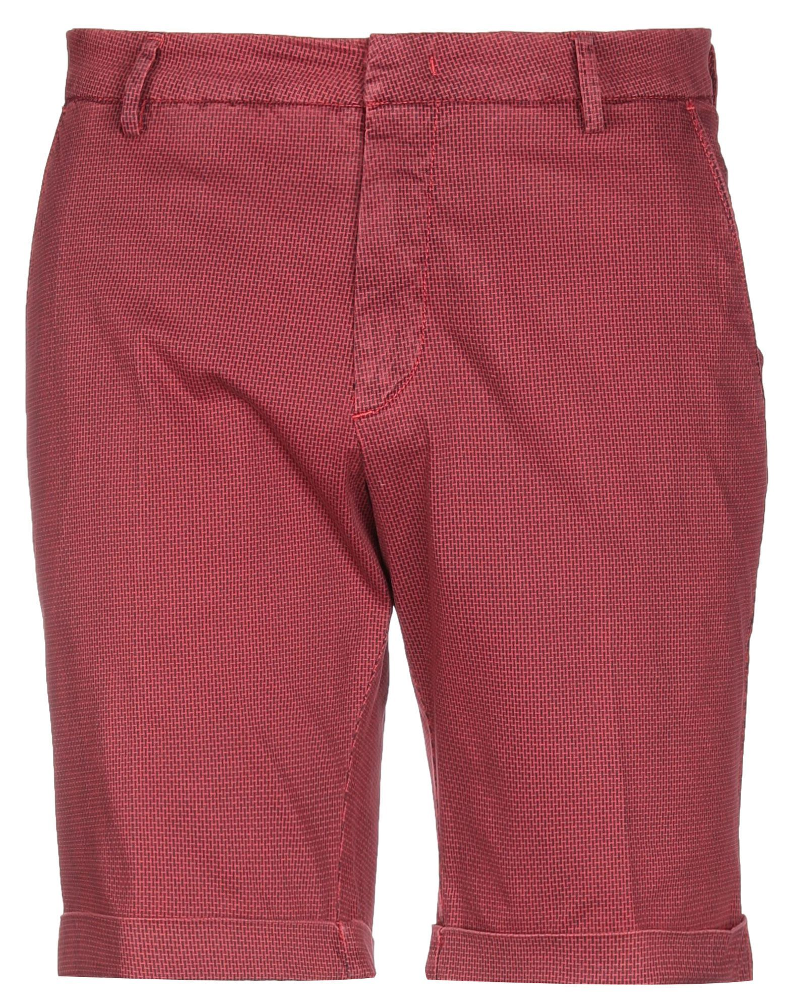 Michael Coal Red Cotton Shorts