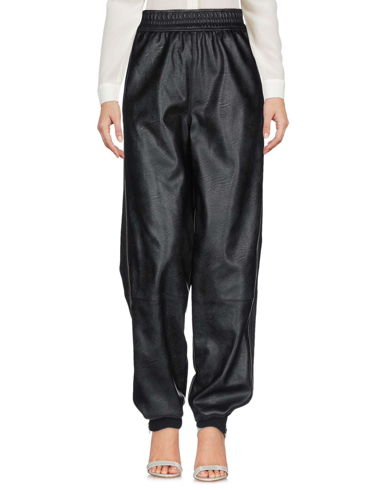 Stella McCartney Black Faux Leather Trousers