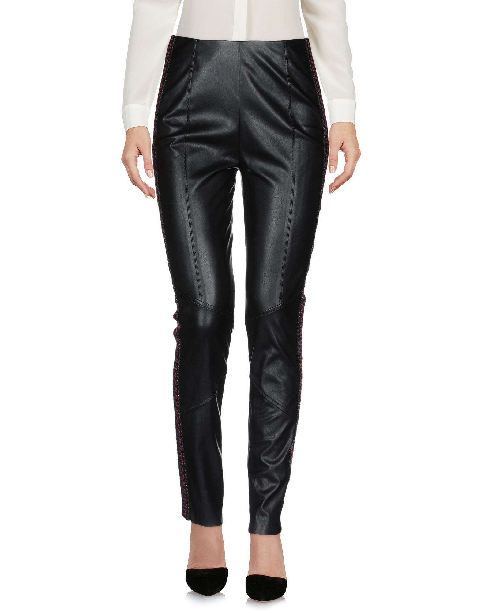 Pinko Black Faux Leather Trousers