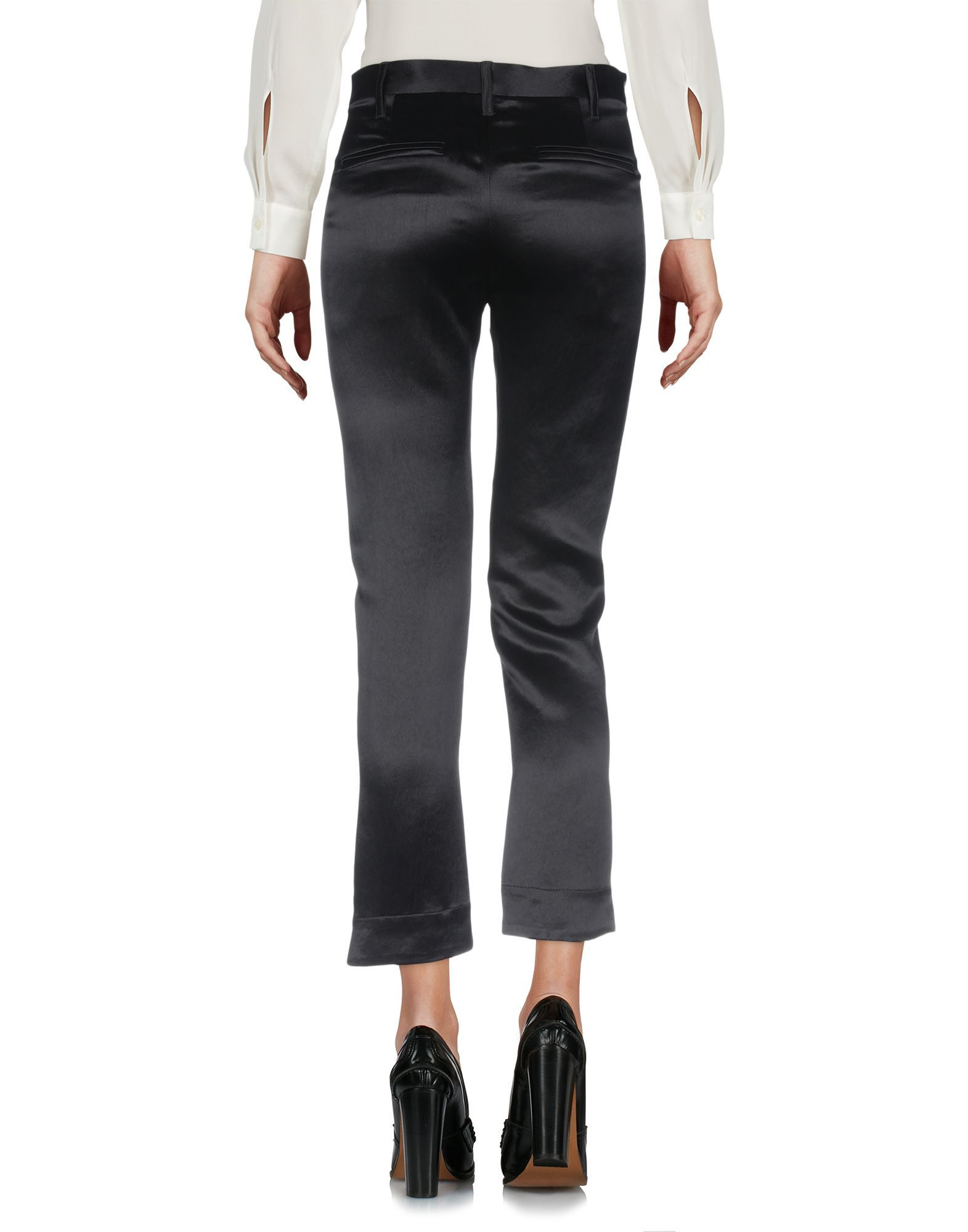 Ann Demeulemeester Black Satin Trousers