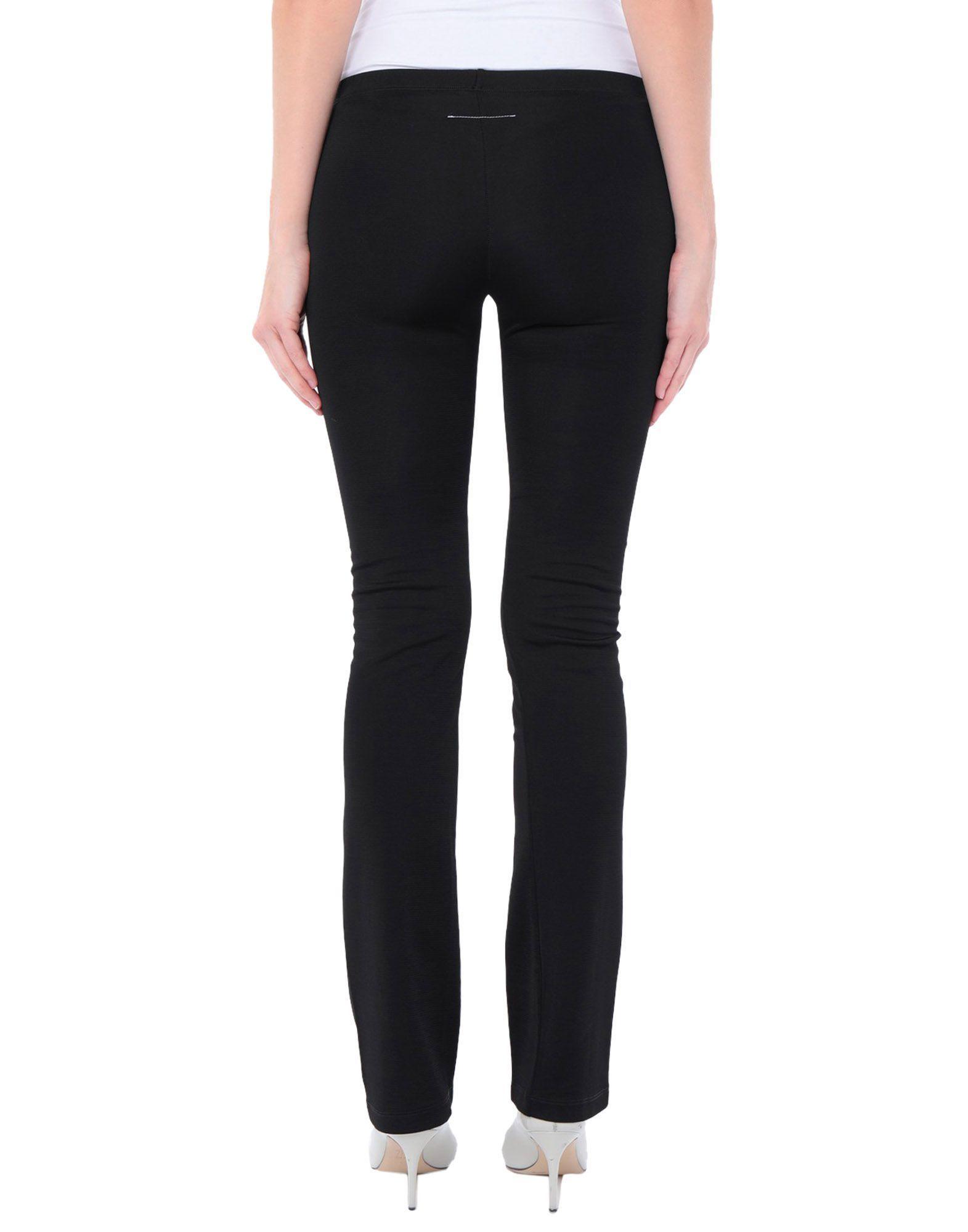 MM6 Maison Margiela Black Cotton Trousers