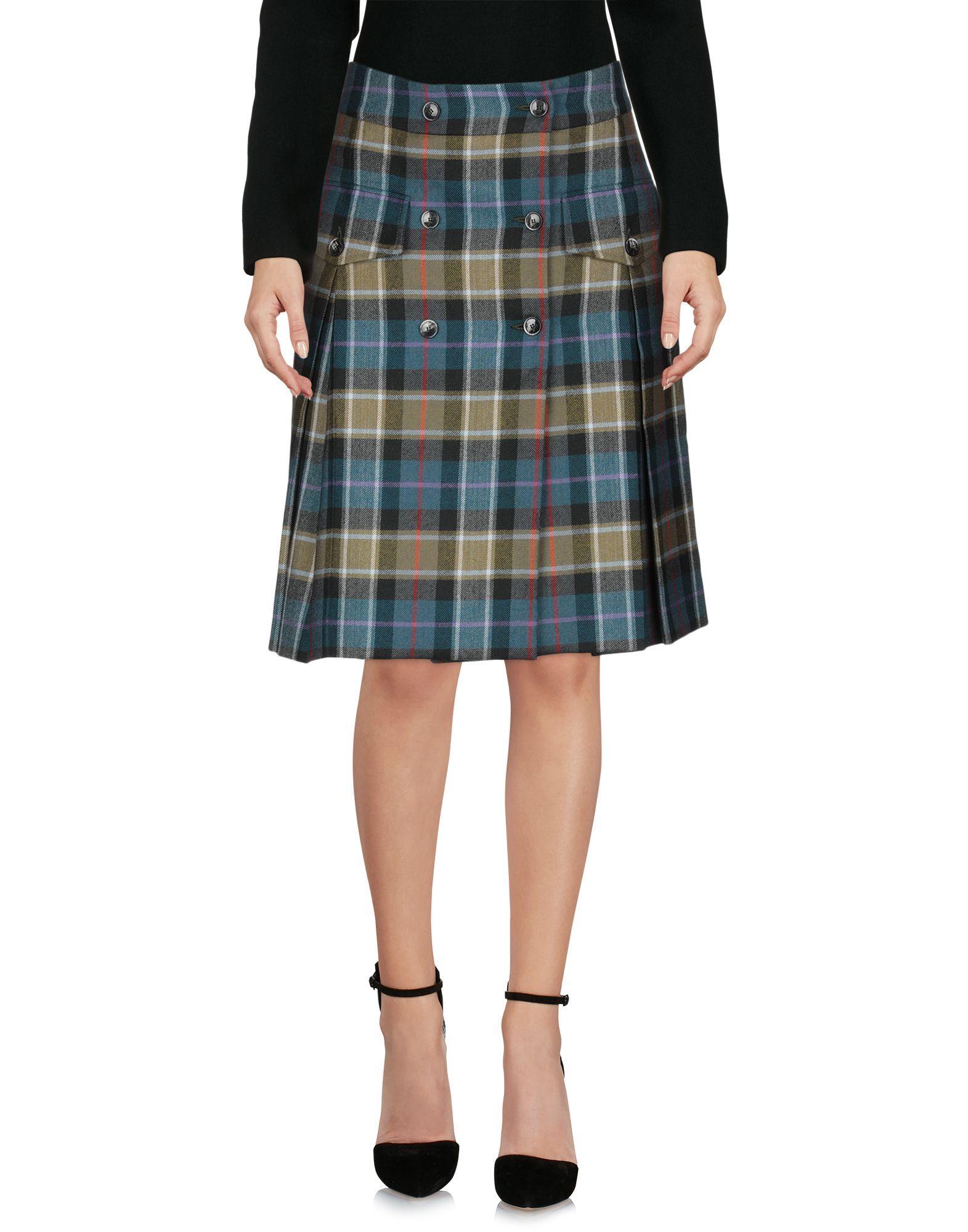 Alberta Ferretti Green Virgin Wool Skirt
