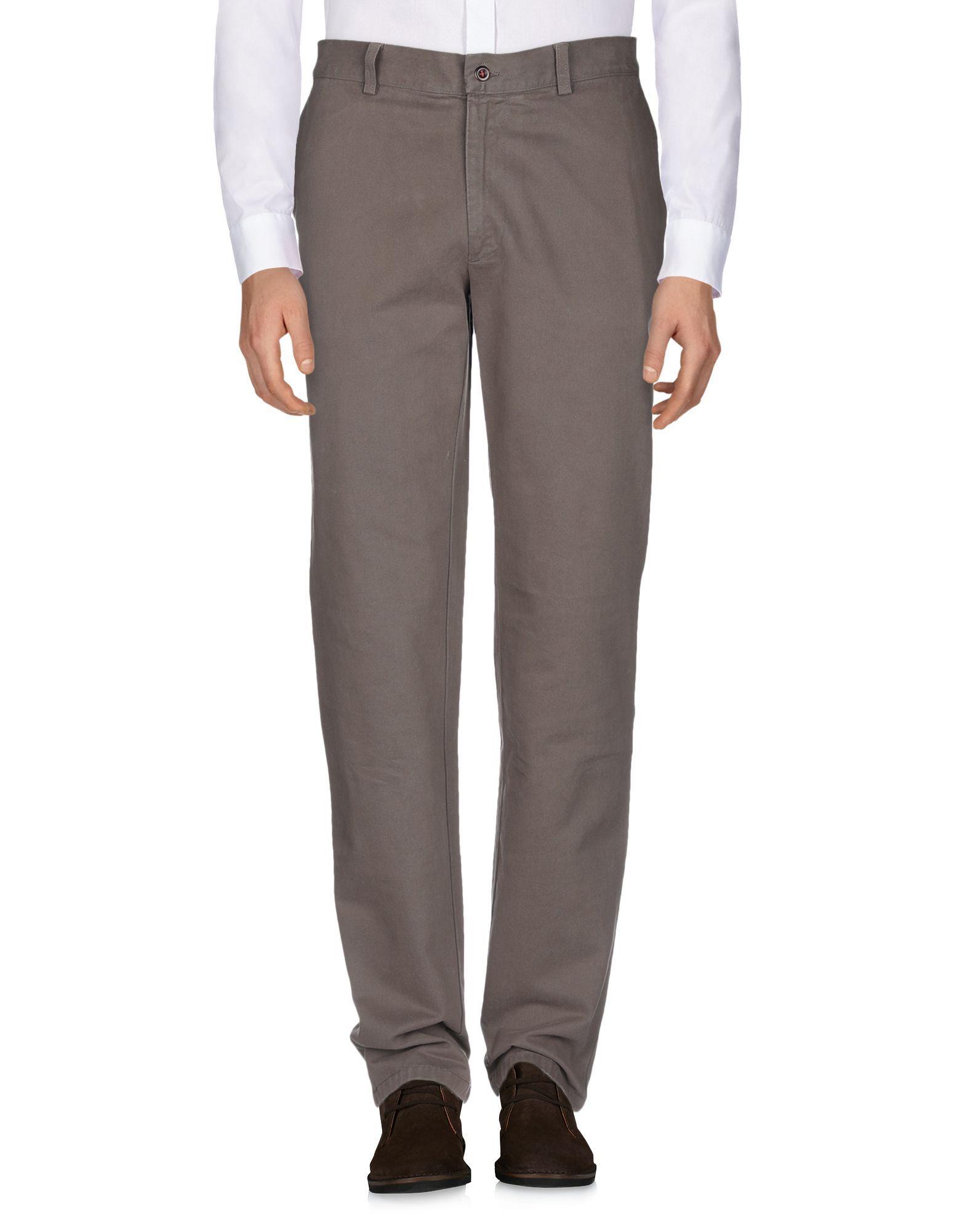 Fay Khaki Cotton Trousers
