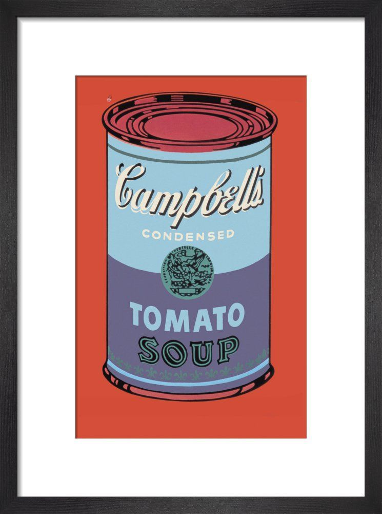 Campbells Soup Can 1965 Blue & Purple Art Print By Andy Warhol