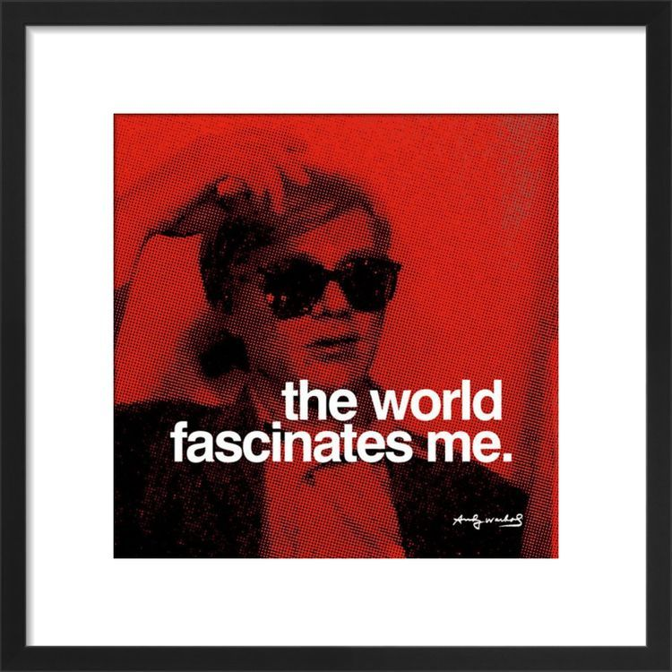 The World Art print by Andy Warhol
