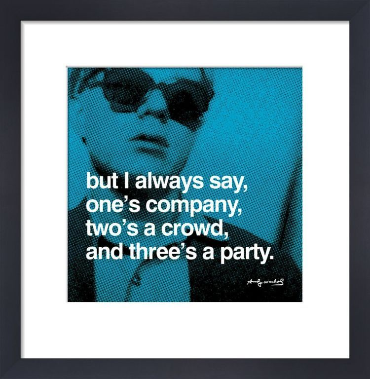 Threes A Party By Andy Warhol