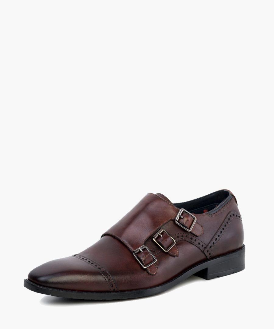 Dark brow monk strap shoes