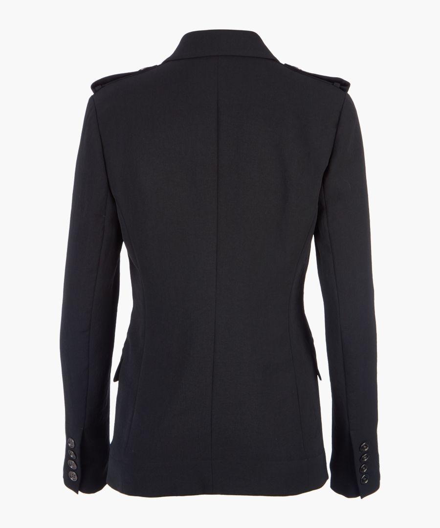 Black button jacket
