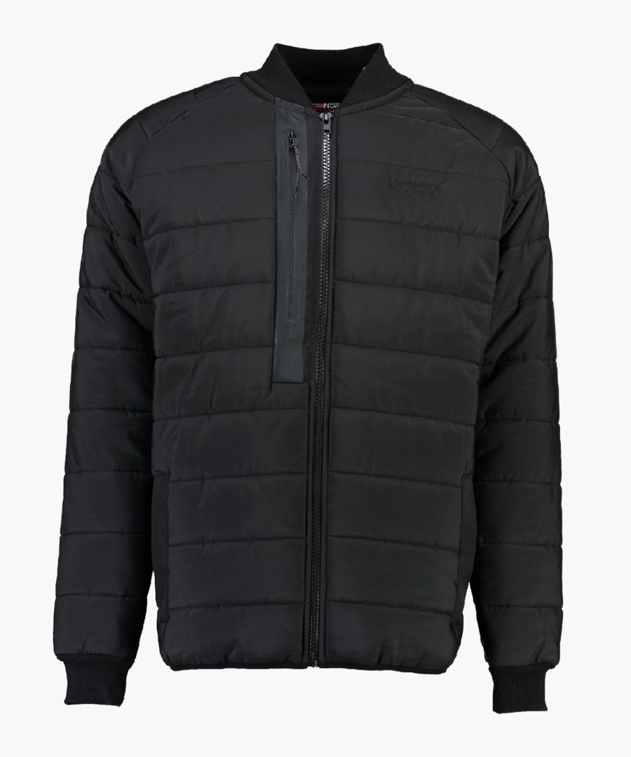 Black quilted light weight jacket