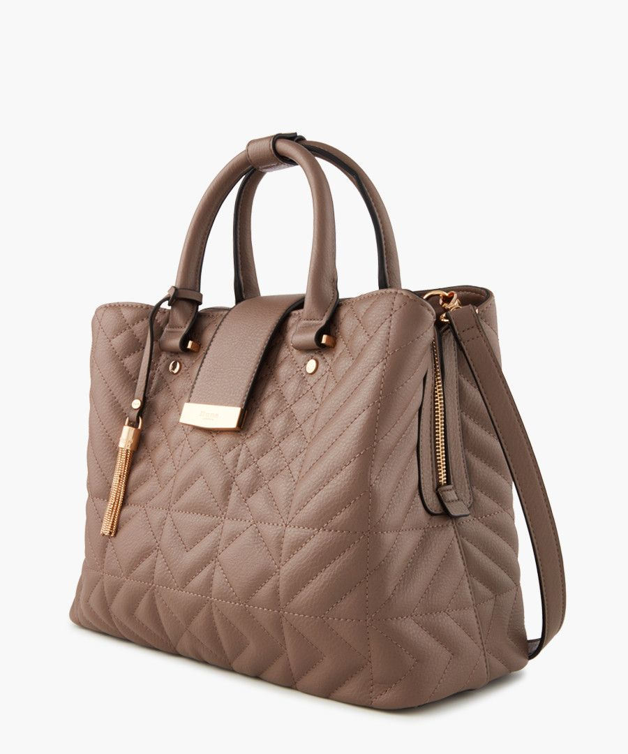 Dquilta taupe shopper