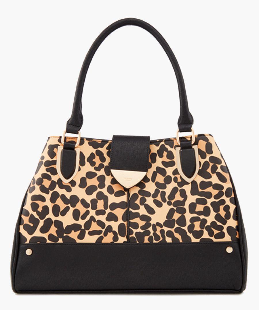 Darlow leopard printed shopper