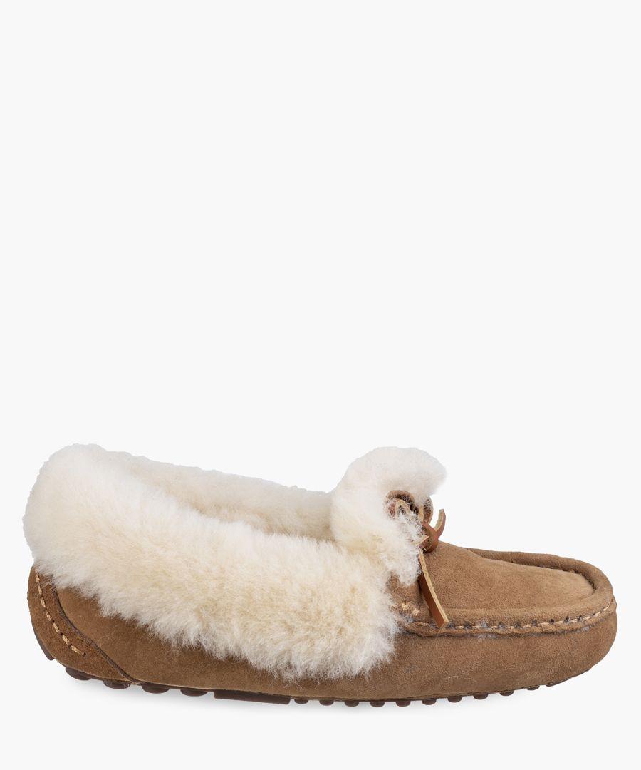 Womens tan slippers