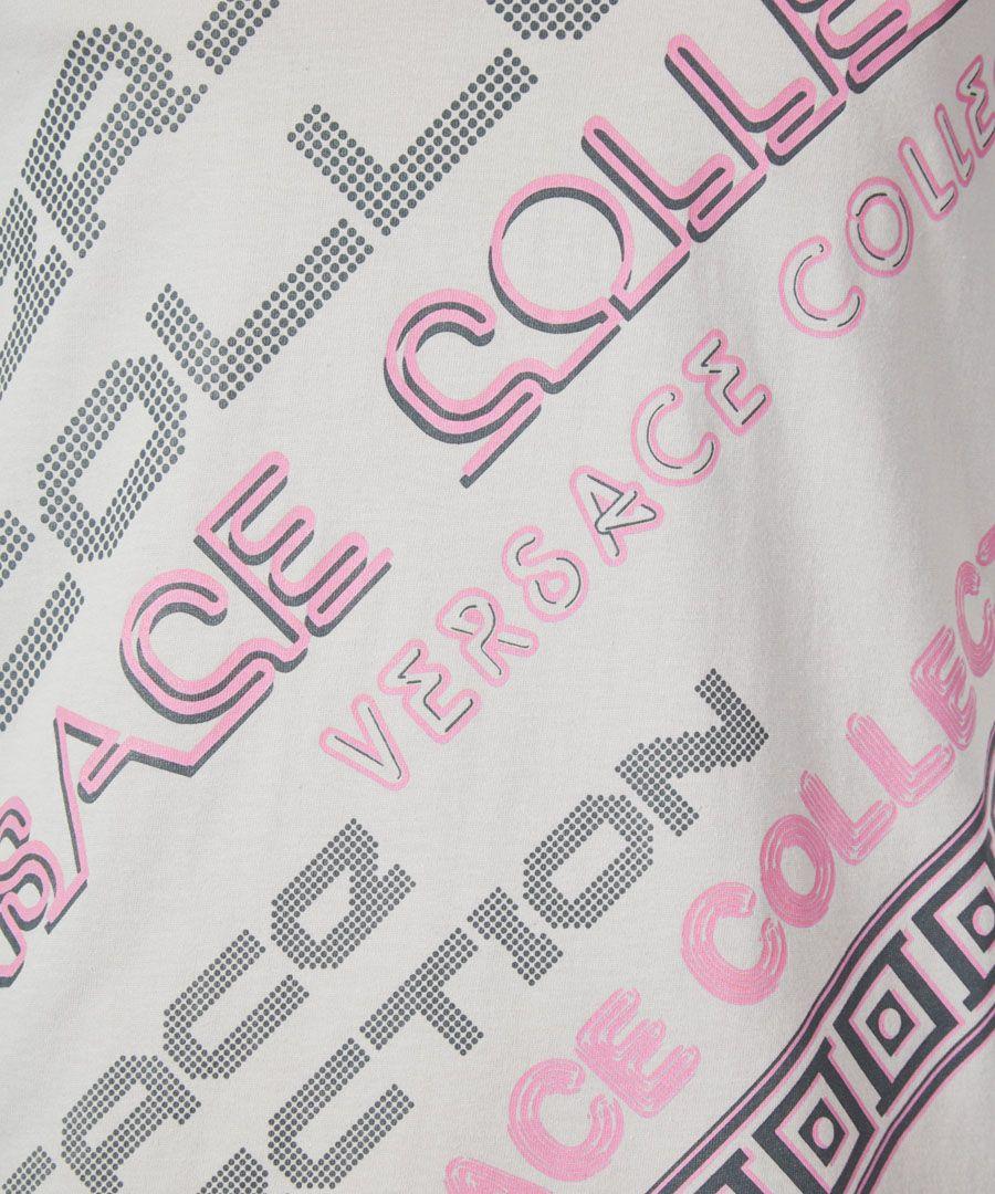 Grey and pink logo T-shirt