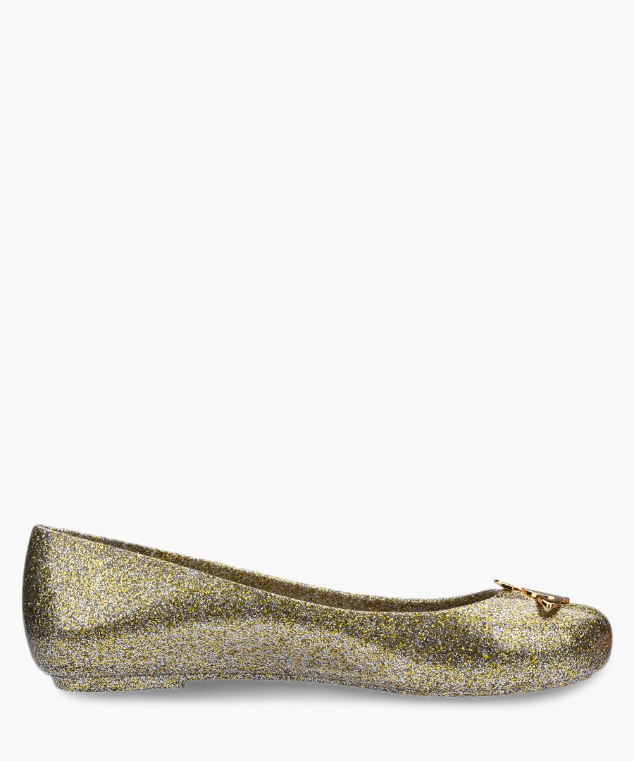 Space Love 21 Glitter ballet pumps
