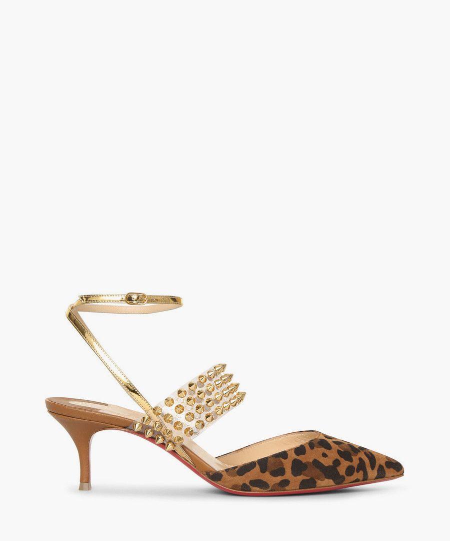Levita multi coloured leopard heels