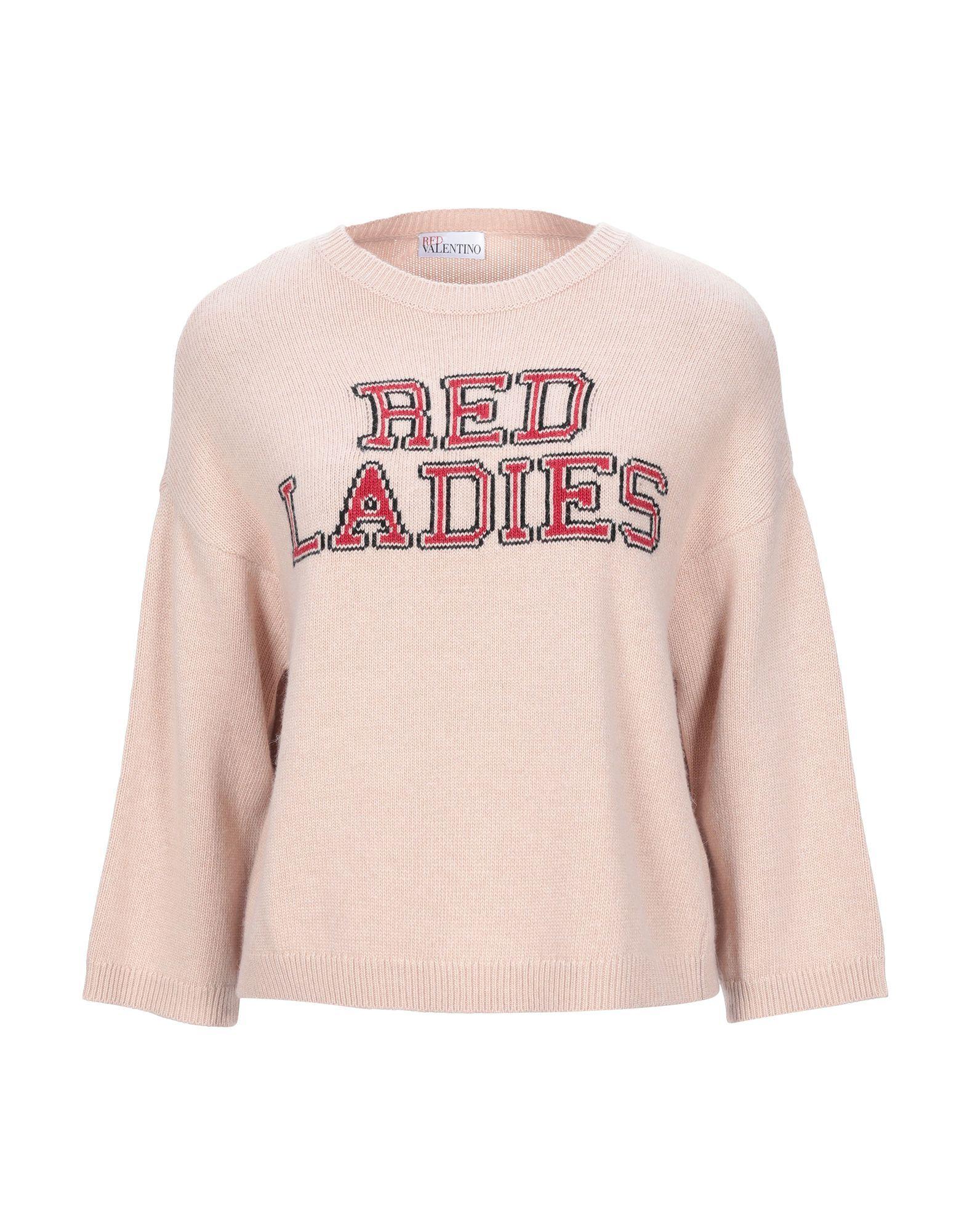 Redvalentino Pale Pink Logo Wool Jumper