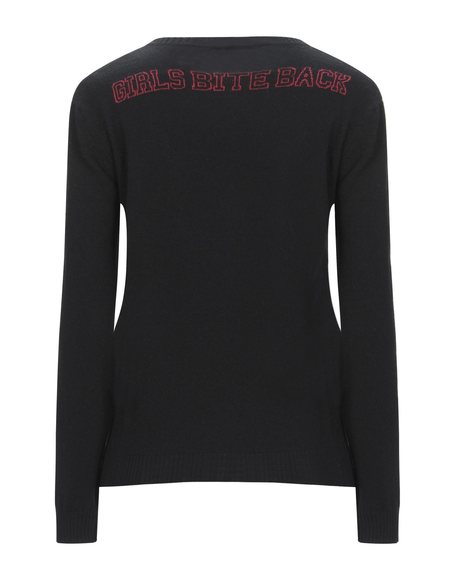 Redvalentino Black Wool Logo Jumper