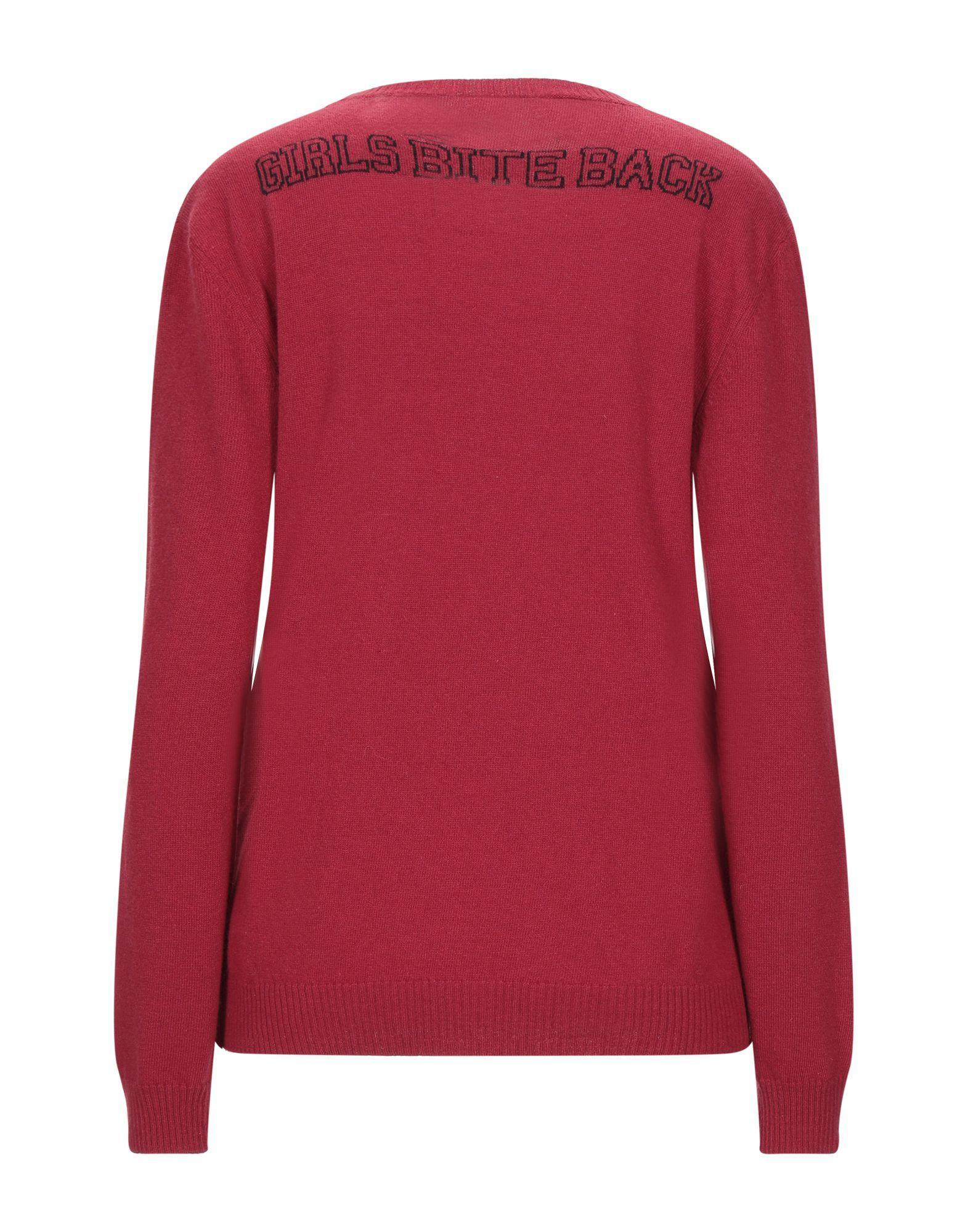 Redvalentino Red Wool Logo Jumper
