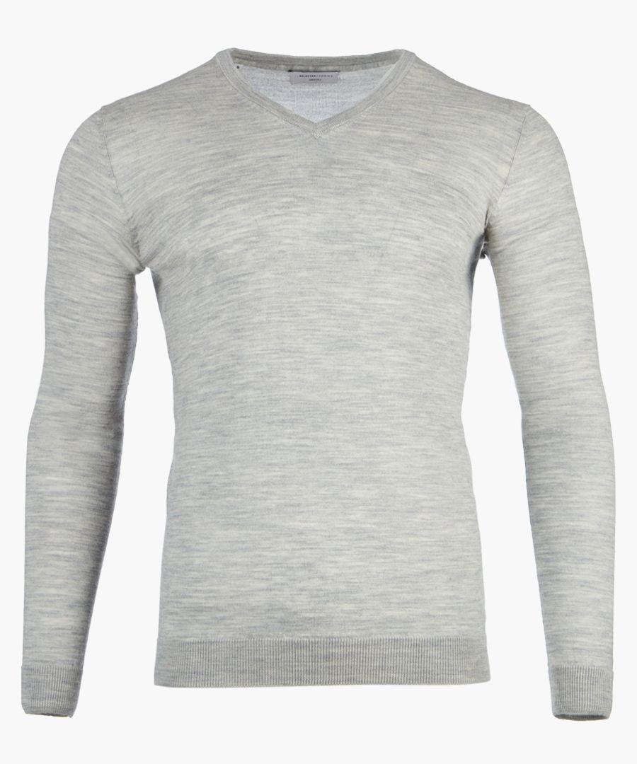 Grey crew neck jumper