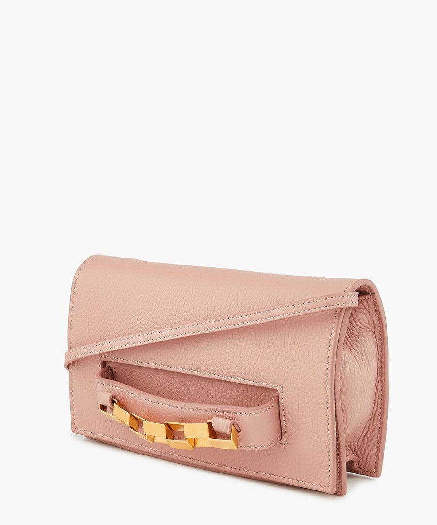 Dani pink leather crossbody