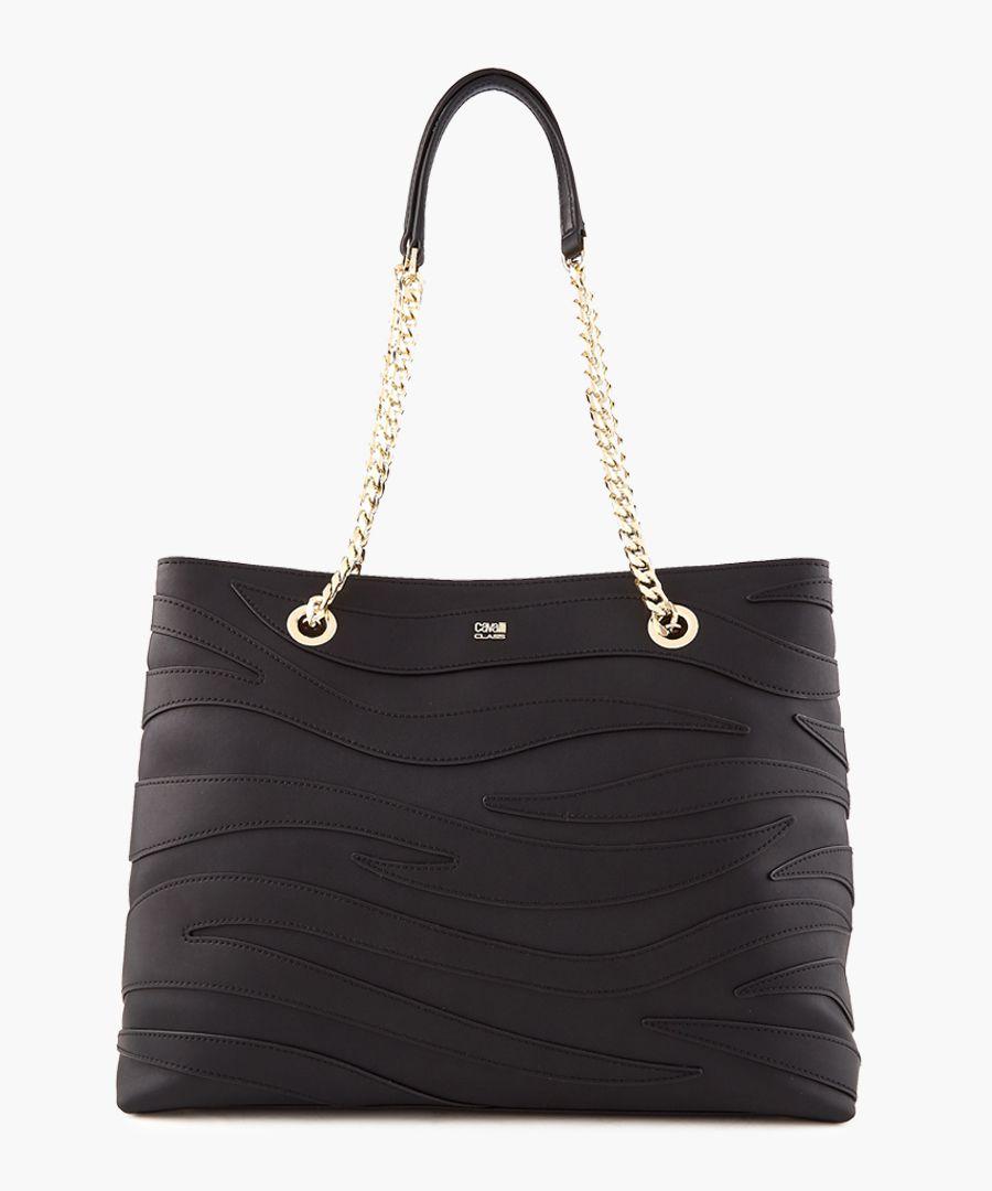 Jeannine medium black shopper