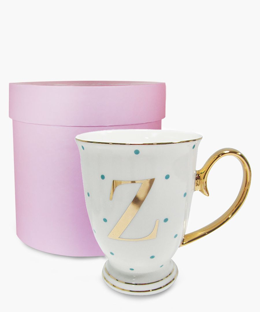 Alphabet Spotty metallic mug