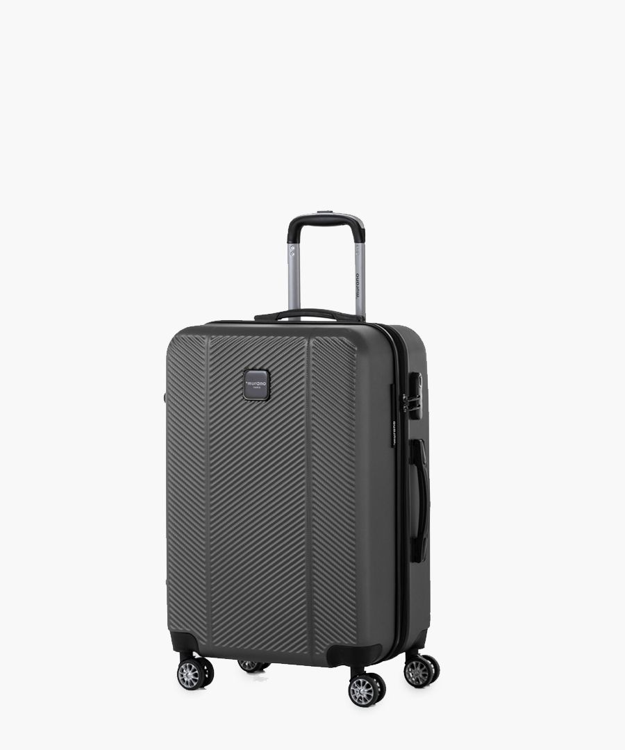 Grey spinner suitcase