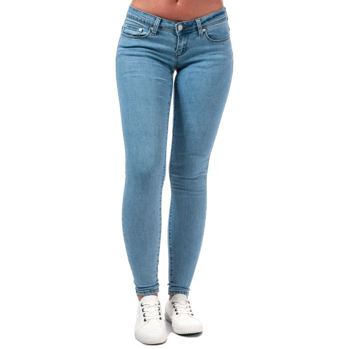 Women's Only Wonder Coral Low Skinny Jeans in Light Blue