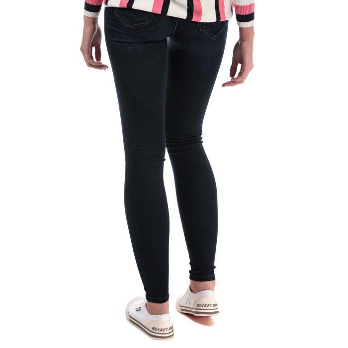 Women's Only Lisa Life Skinny Ankle Jeans in Dark Blue