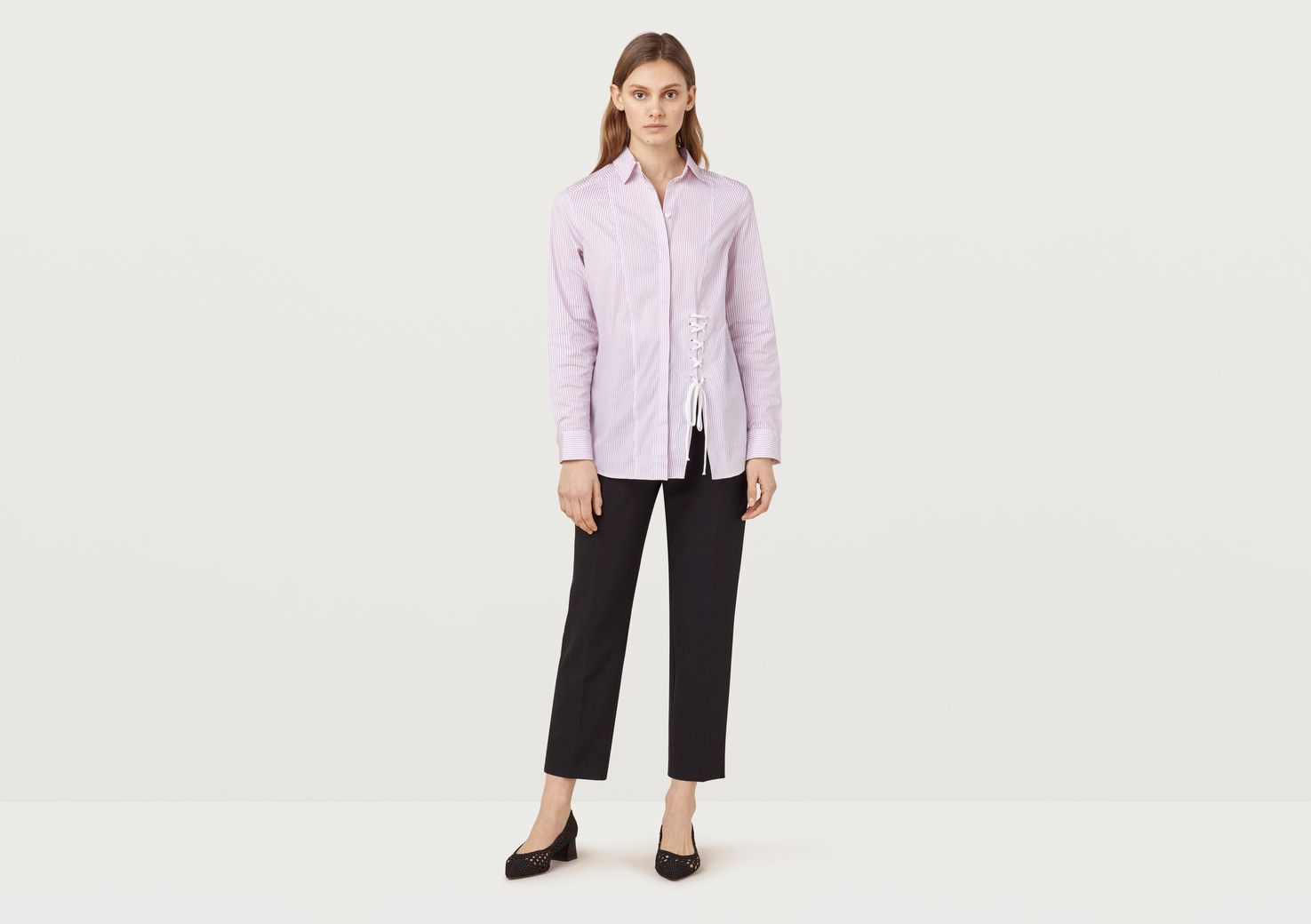 Grainger Pink And White Striped Shirt - multicolour